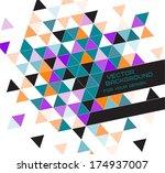 abstract vector geometric... | Shutterstock .eps vector #174937007