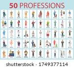 50 Professions. Big Set Of...