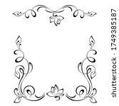 decorative symmetrical frame... | Shutterstock .eps vector #1749385187