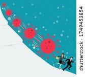 business man and woman running... | Shutterstock .eps vector #1749453854