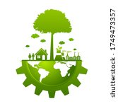 ecology concept and...   Shutterstock .eps vector #1749473357