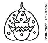 evil pumpkin icon. outline evil ...   Shutterstock .eps vector #1749486851