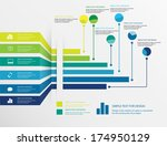 vector design of infographic... | Shutterstock .eps vector #174950129