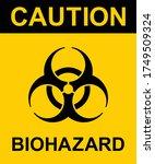 caution biohazard  black and... | Shutterstock .eps vector #1749509324