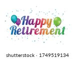 happy retirement banner  ... | Shutterstock .eps vector #1749519134