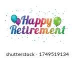 happy retirement banner  ... | Shutterstock .eps vector #1749519134