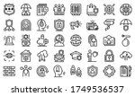 security service icons set....   Shutterstock .eps vector #1749536537