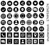web site icon vector set.... | Shutterstock .eps vector #1749539174