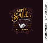super sale promotion template.... | Shutterstock .eps vector #1749556004
