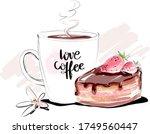 Love Coffee Cup With Chocolate...