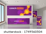 purple office design with... | Shutterstock .eps vector #1749560504