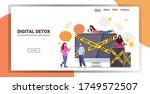 mix race people near gadgets...   Shutterstock .eps vector #1749572507