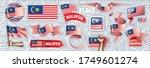 vector set of the national flag ...   Shutterstock .eps vector #1749601274
