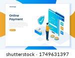 flat design online payment...   Shutterstock .eps vector #1749631397