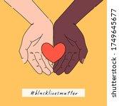 black lives matter hand drawn... | Shutterstock .eps vector #1749645677