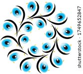 different patterns created from ...   Shutterstock .eps vector #1749652847