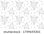 vector color seamless repeating ... | Shutterstock .eps vector #1749655301