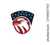 bald eagle head logo design... | Shutterstock .eps vector #1749657707