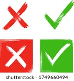 tick and cross sign elements.... | Shutterstock .eps vector #1749660494