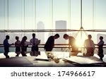 group of business people and... | Shutterstock . vector #174966617
