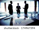 colleagues discussing their... | Shutterstock . vector #174967394