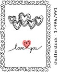 Vector Background With Hearts...