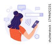 voice recognition concept.... | Shutterstock .eps vector #1749692231