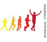 the abstract of running vector | Shutterstock .eps vector #174969554