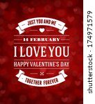 happy valentine's day message... | Shutterstock .eps vector #174971579