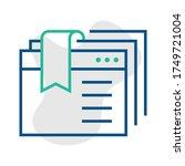 vector icon bookmark in trendy...