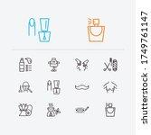 beauty icons set. perfume and...