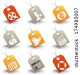 vector set of entertainment... | Shutterstock .eps vector #174985007