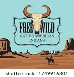 western vintage banner with a...   Shutterstock .eps vector #1749916301