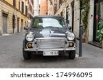 rome   october 20  retro mini... | Shutterstock . vector #174996095