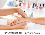 close up of process of hand... | Shutterstock . vector #174997139