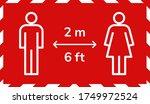 social distancing 2m metre... | Shutterstock .eps vector #1749972524