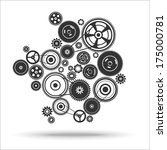 gearwheel mechanism background. ... | Shutterstock .eps vector #175000781