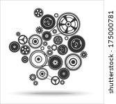 gearwheel mechanism background. ... | Shutterstock .eps vector #175000781