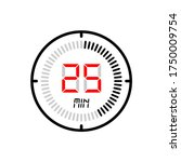 the 25 minute icon isolated on...