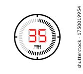 the 35 minute icon isolated on...