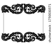 retro baroque decorations... | Shutterstock .eps vector #1750030571