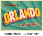 vintage touristic greeting card ... | Shutterstock .eps vector #175004489