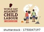 world day against child labour... | Shutterstock .eps vector #1750047197