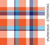 orange plaid  checkered  tartan ... | Shutterstock .eps vector #1750054361