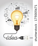 concept of productive business... | Shutterstock .eps vector #175005671