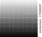 vector halftone dots. black... | Shutterstock .eps vector #175008287