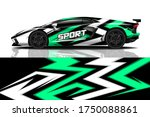 sports car wrapping decal design | Shutterstock .eps vector #1750088861