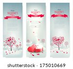 holiday retro banners.... | Shutterstock .eps vector #175010669