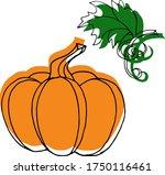 vector drawing of pumpkins.... | Shutterstock .eps vector #1750116461
