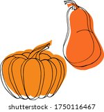 vector drawing of pumpkins.... | Shutterstock .eps vector #1750116467
